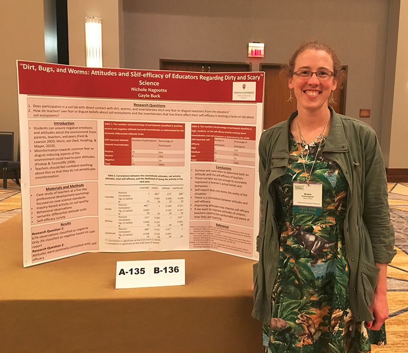 Graduate Student Nichole Nageotte presenting her research at the 2017 Annual International Conference