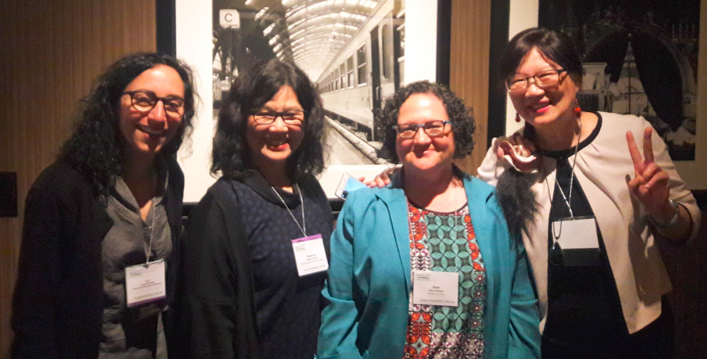 Current and Past NARST International Coordinators (2008-2017) at the 2017 Presidential Breakfast Left to right: Lucy Avraamidou (2016-2019), Hsiao-Ling Tuan (2013-2016), Sibel Erduran (2010-2013), Mei-Hung Chiu (2007-2010)
