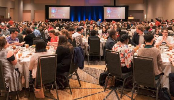 Attendees honor award recipients at the 2017 Awards Luncheon
